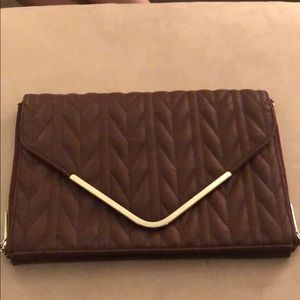 Large Maroon envelope clutch